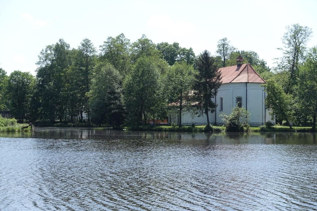 the floating church in Zwierzyniec