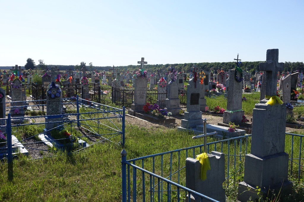 typical orthodox cemetary in Belarus