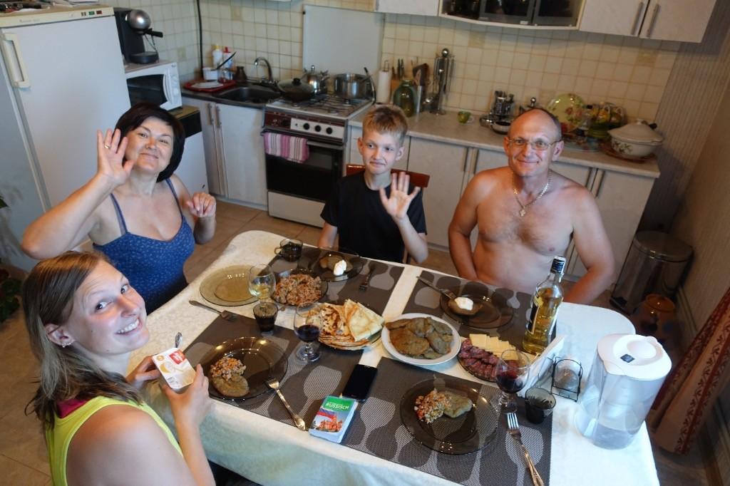 Galina,  Valentin and Andrej
