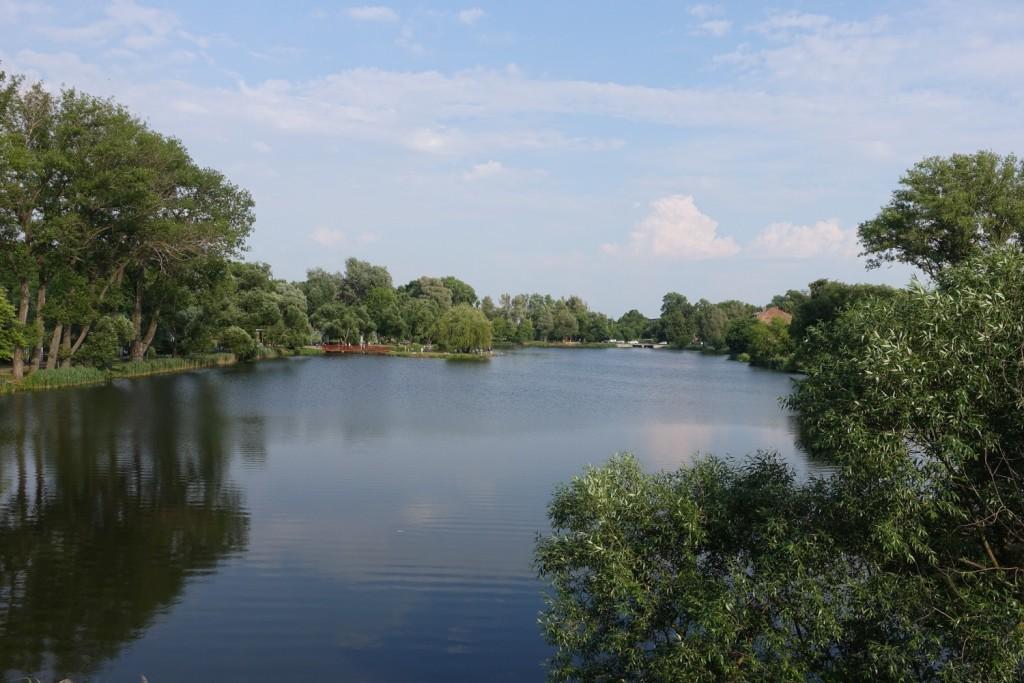 der Loshytski Park in der Nähe unserer Unterkunft