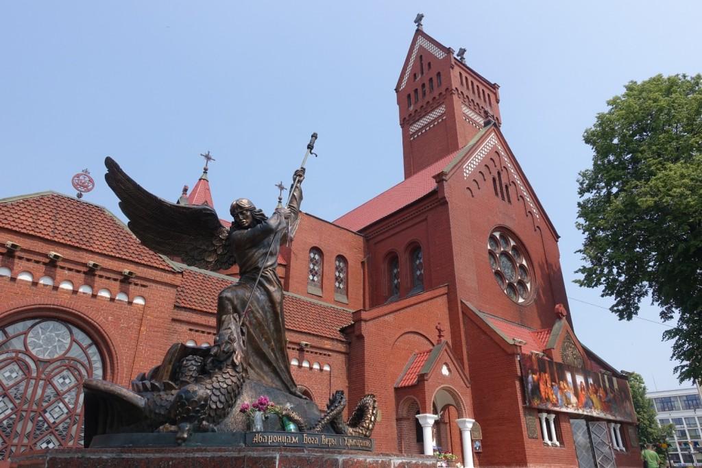 die Kirche St. Simon und Helena  wo wir kurz einer Messe lauschen durften - es war Sonntag :-)