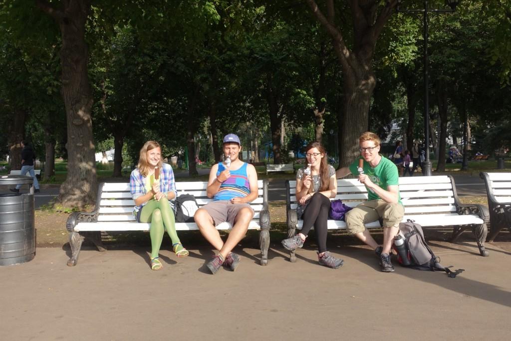 auf ein Eis mit den anderen Radlern Magdalena und Stefan :-)