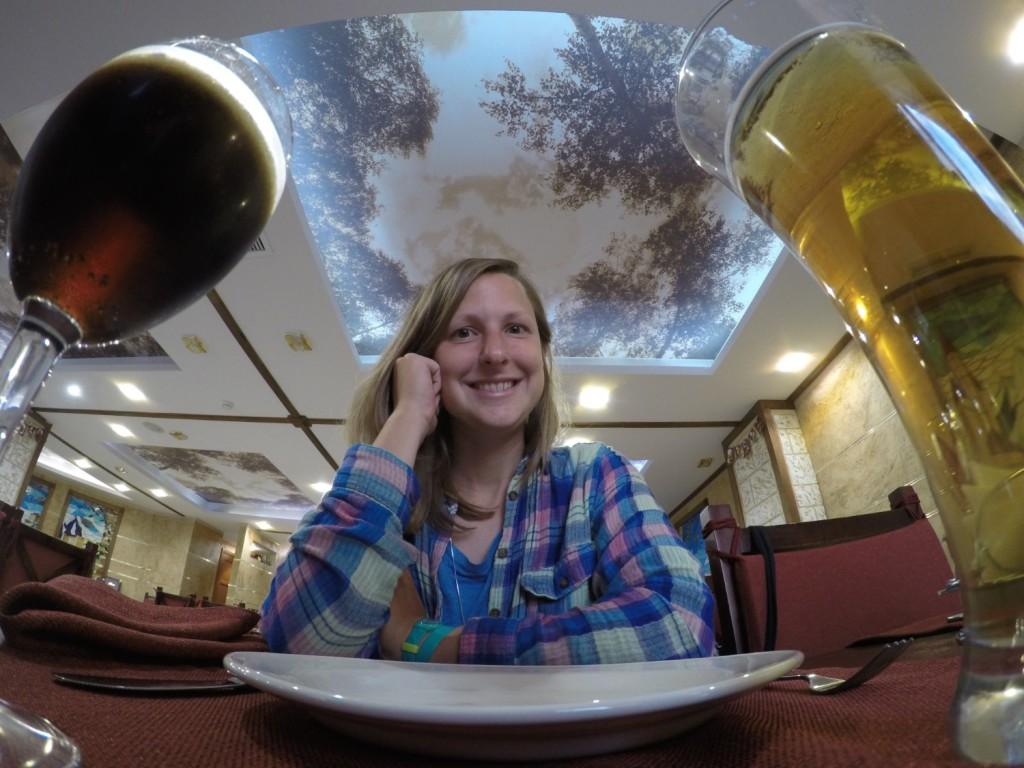 Abendessen in unserem abgelegenen Hotel