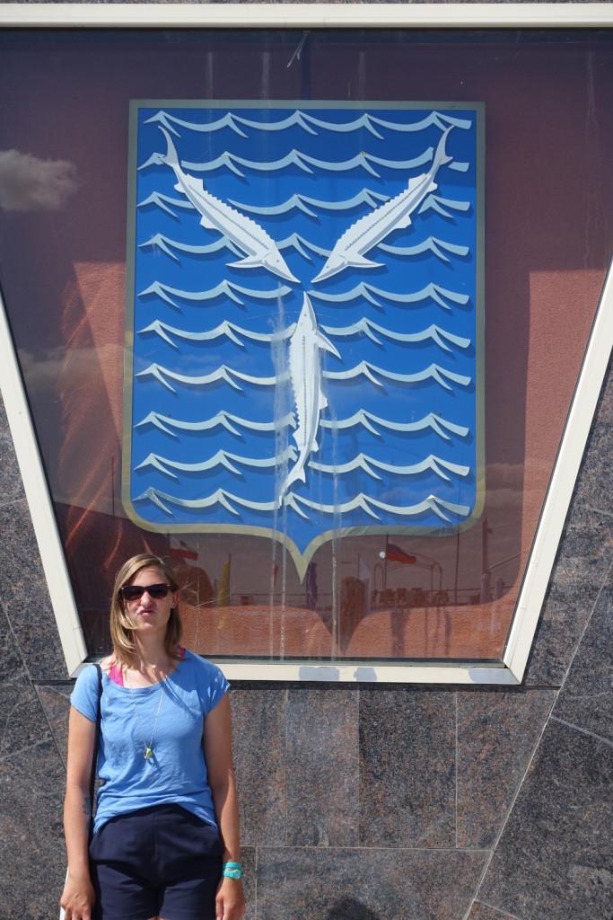 das Wappen Saratovs - für die Fiiiisch
