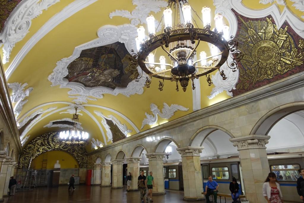 die Metro-Station Komsomolskaja