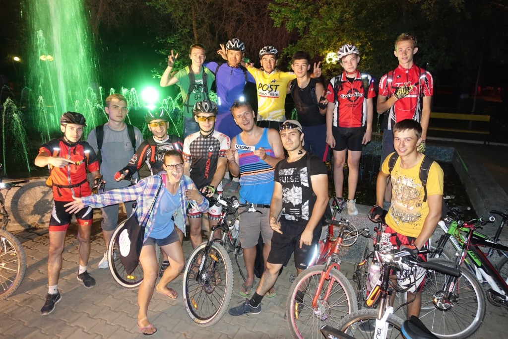 with the cyclists gang of Aktobe