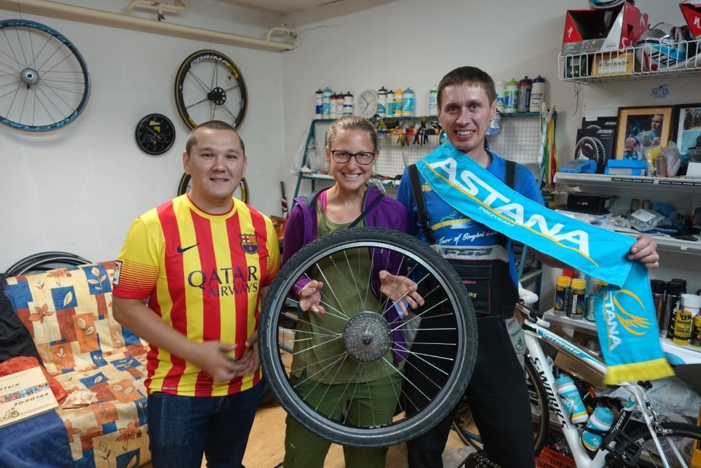 lovely Asset, Alexandra, the malefactor and Wladimir, the bicycle specialist
