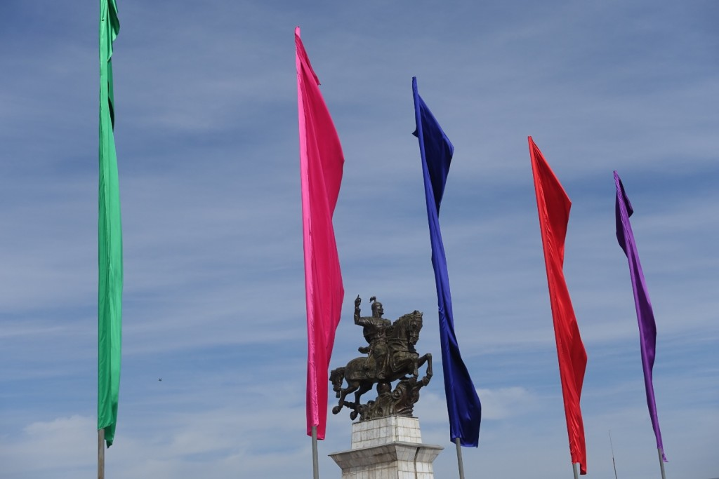 unsere letzte Statue in Kasachstan