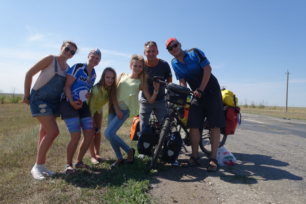 mit Nastja, Yana, Polina und Viktor