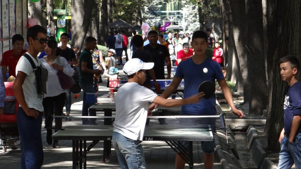 Tischtennis ist hier sehr beliebt