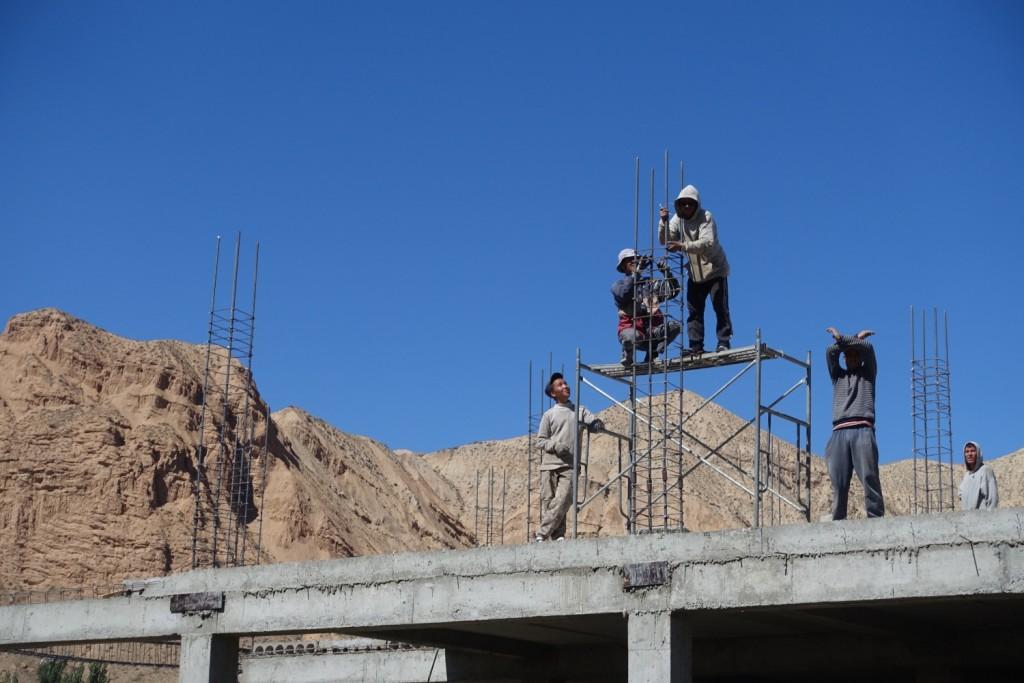Baustelle auf kirgisisch