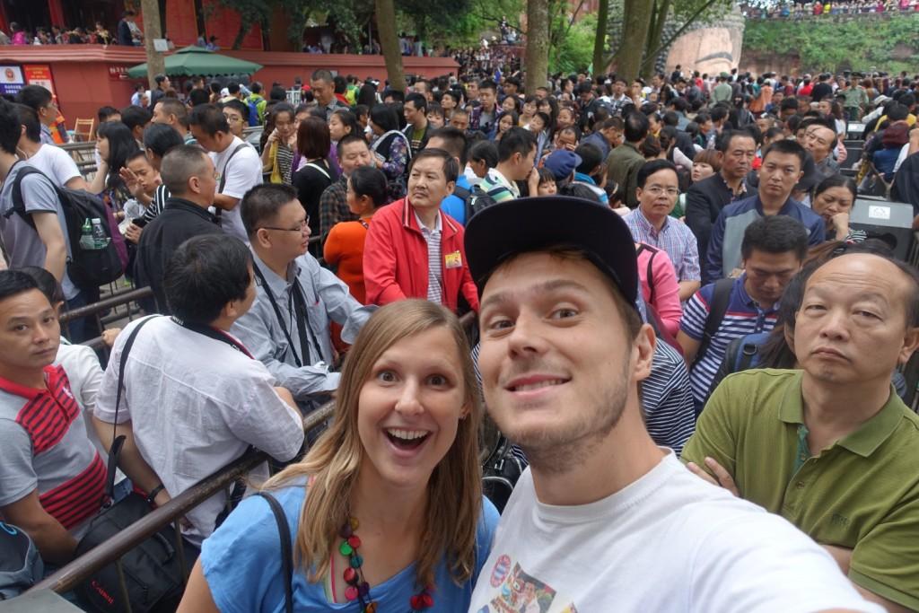 wir und ein paar chinesische Touristen ;-)
