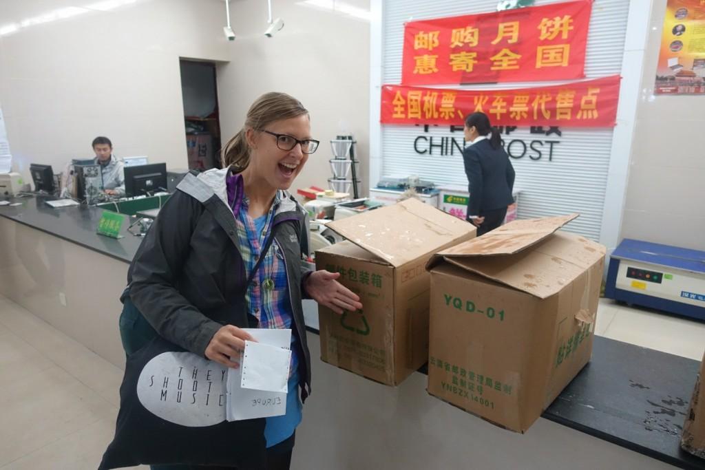 auf dem chinesischen Postamt