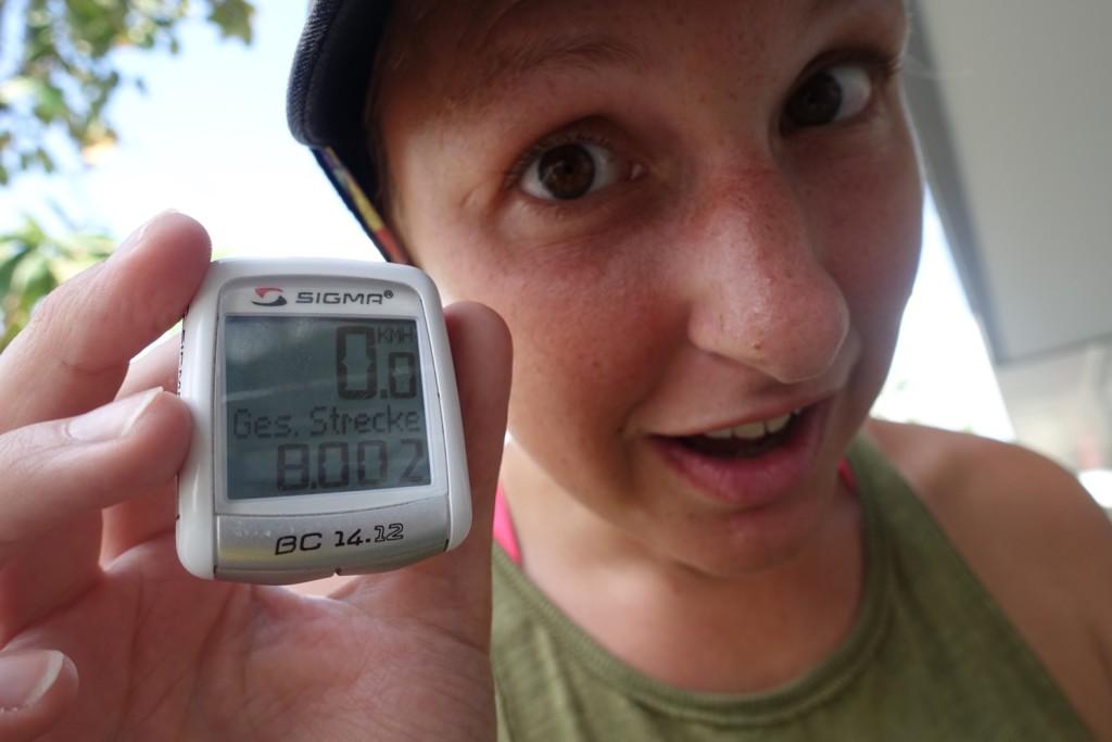 8.000 km, yaaaay! :-)