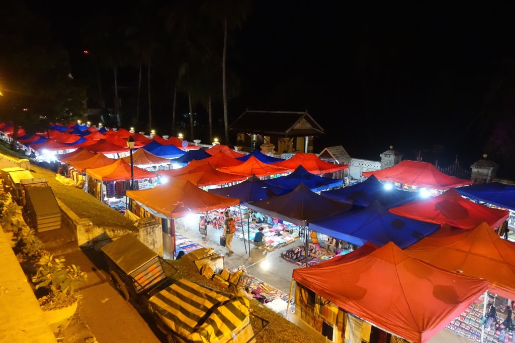the nightmarket in the evening