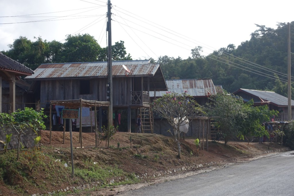 typical village houses in Laos