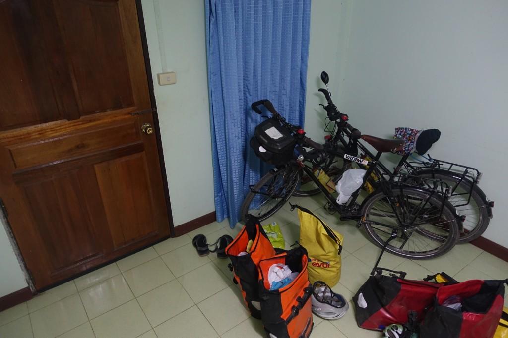 die Räder durften mit ins Zimmer