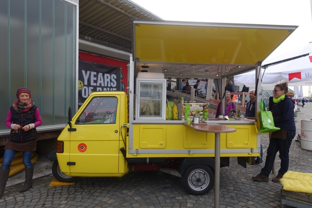 Sonja (left) and her Café Mobile