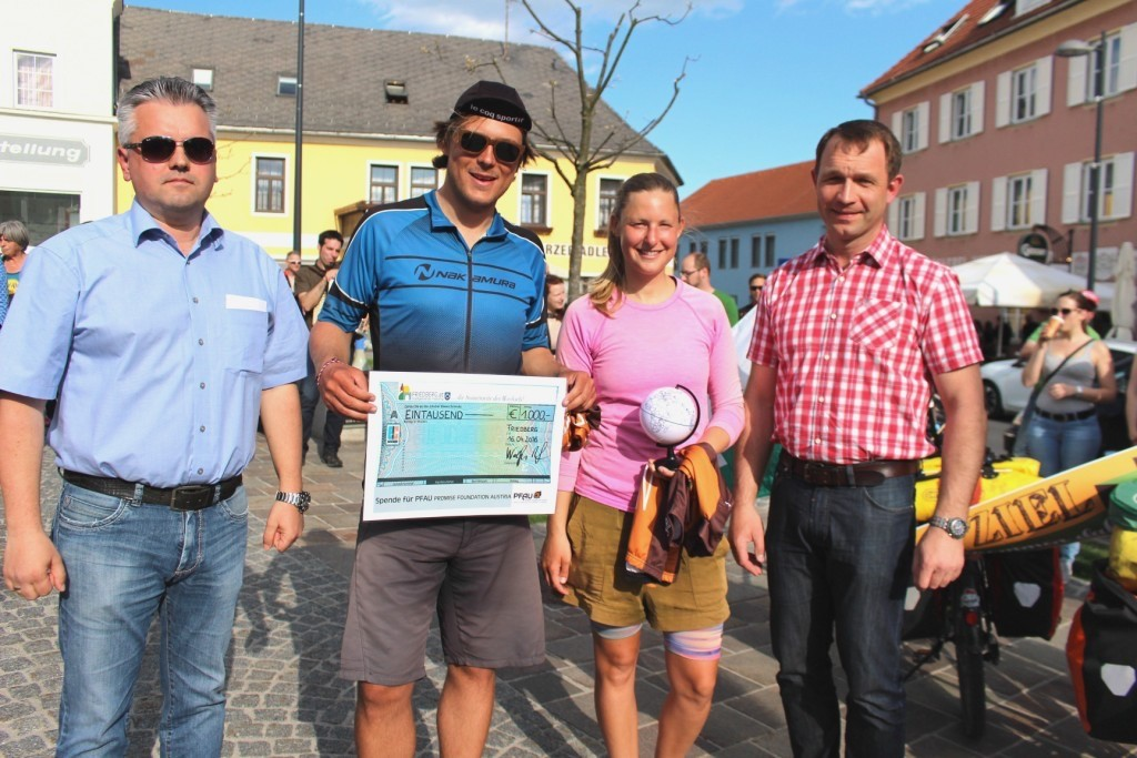 1.000 Euro von der Gemeinde Friedberg!